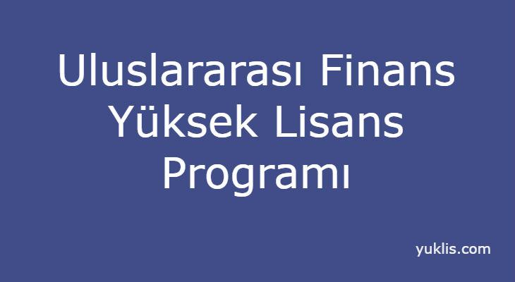 Uluslararası Finans Yüksek Lisansı